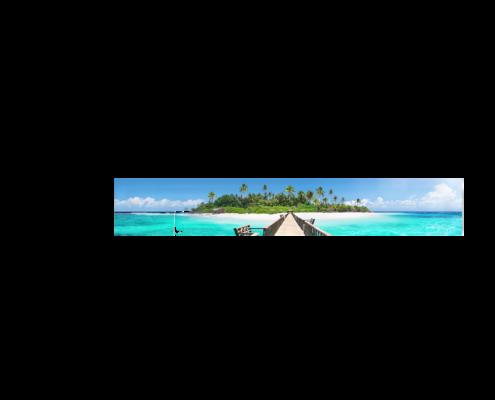 Echtglas-Rueckwand-Meer-Steg-Maledieven-Paradies