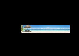Echtglas-Rueckwand-Meer-Strand-Wasser