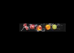 Echtglas-Rueckwand-Obst-Wasser-Kollage