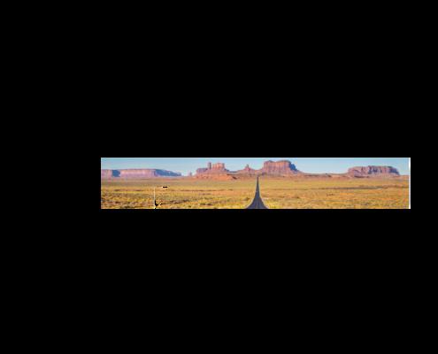 Echtglas-Rueckwand-USA-Long-Road-Monument-Valley